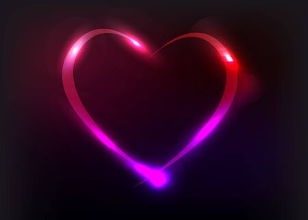 Vector heart illustration with light effects