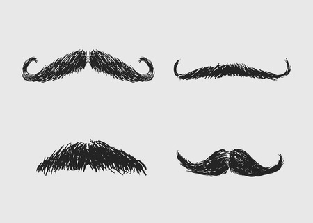 mustaches: hand sketch mustaches Illustration