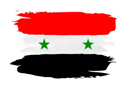Syria: Vector grunge Flag of Syria Illustration
