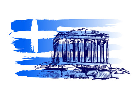 greece: Vector background with the motif of Greece