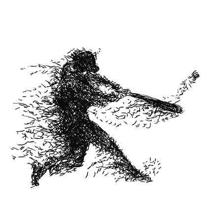Vector illustration of a baseball player Vettoriali