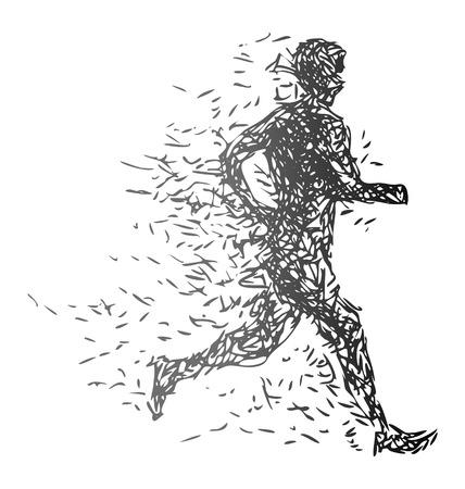 adrenalin: Vector illustration of a running man