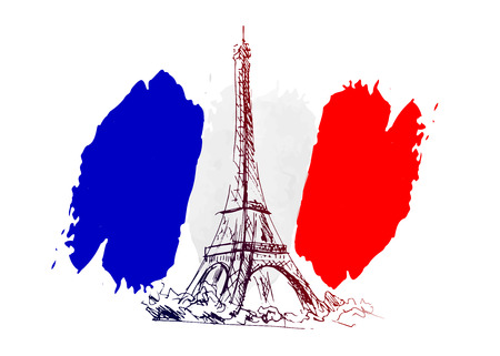 motive: Vector background with France motive