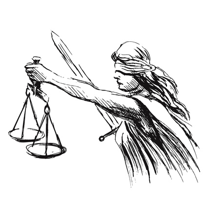 hand sketch allegory of justice