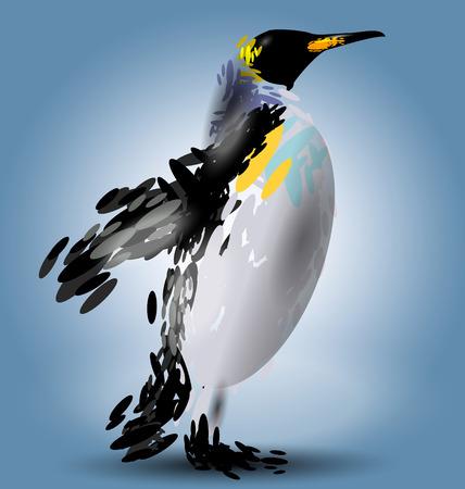 strut: illustration of a penguin Illustration
