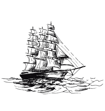 sketch  of sailboat