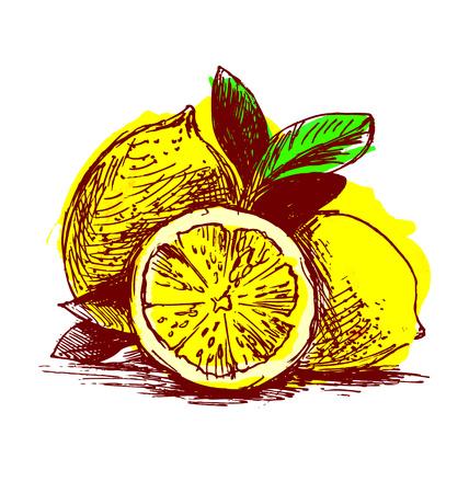 lemons: Colored  lemons
