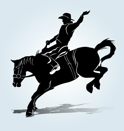 silhouette of a rodeo rider
