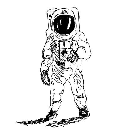 spaceman: Hand sketch spaceman Illustration