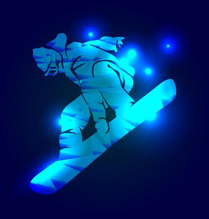 snowboarder: Vector illustration of a snowboarder Illustration