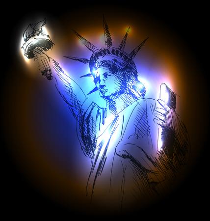 Vector illustration Statue of Liberty