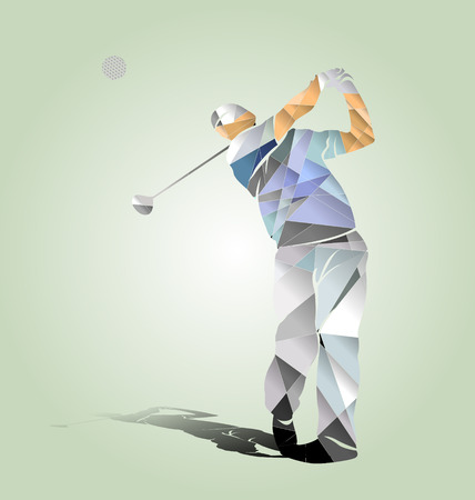 Polygon vector illustration of a golfer 向量圖像