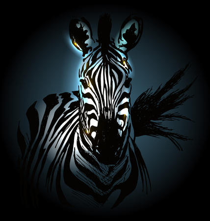 head icon: illustration of zebra