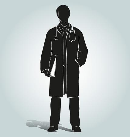 Vector silhouette of doctor Banco de Imagens - 56718935
