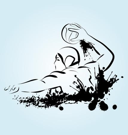 water polo: ilustración de un jugador de waterpolo