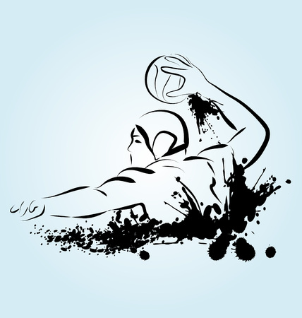 illustration of a water polo player
