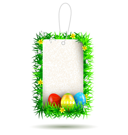 Vector Easter tag