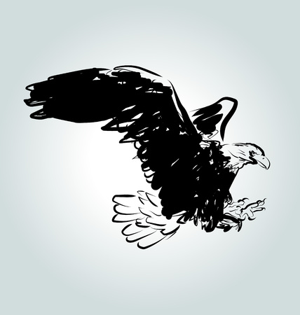 Vector eagle sketch