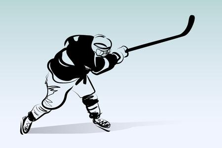 Vector illustration of hockey player Illustration