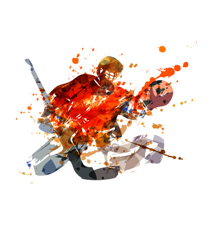 Colorful vector illustration hockey goalie