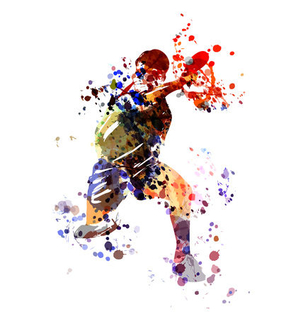 Watercolor illustration table tennis player