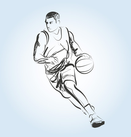 Sketch of a basketball player