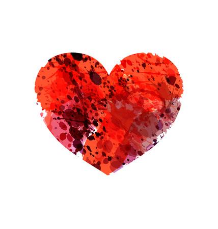 Heart silhouette vector. Иллюстрация