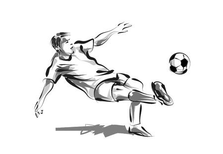 ベクトル線スケッチ サッカー  イラスト・ベクター素材