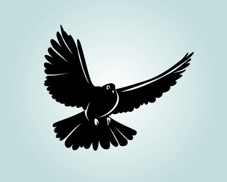 Vector silhouette dove