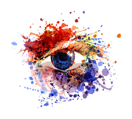 Vector color illustration of eye