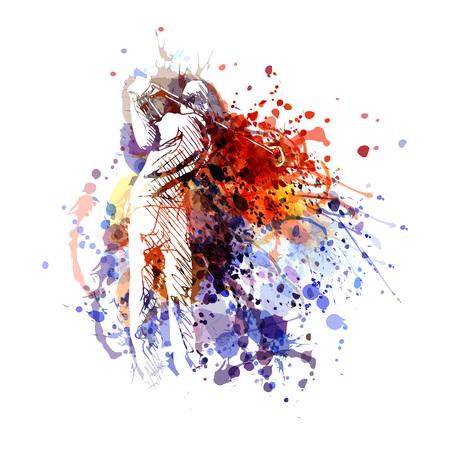 Ilustracja wektorowa kolor golfisty