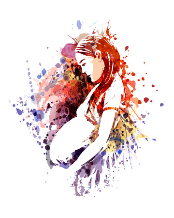 Unique colored illustration of a mother Illustration
