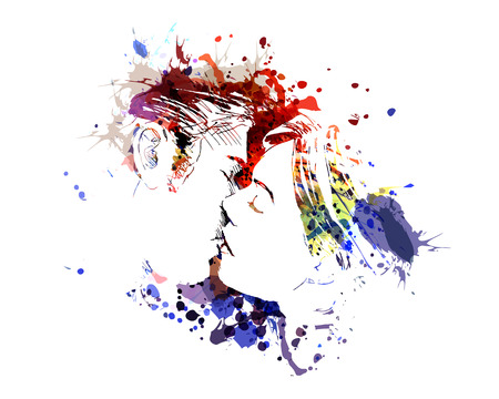 Ilustracja kolor Vector całowania ludzi