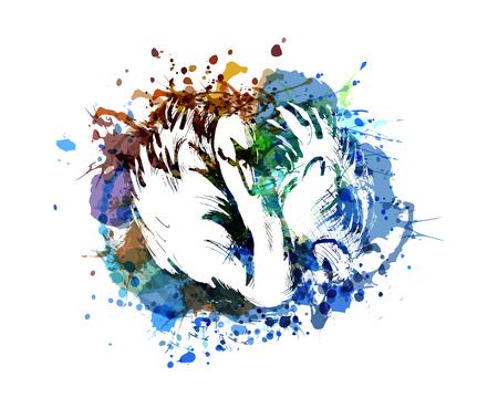 白鳥のベクターカラーイラスト