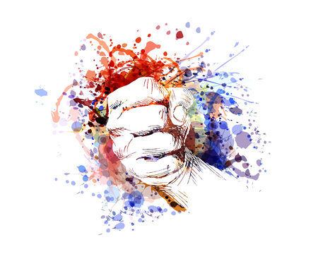 Vector color illustration of a clenched hand Illustration