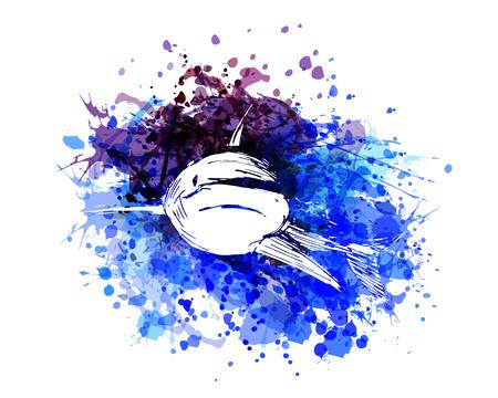 Vector color illustration of a shark