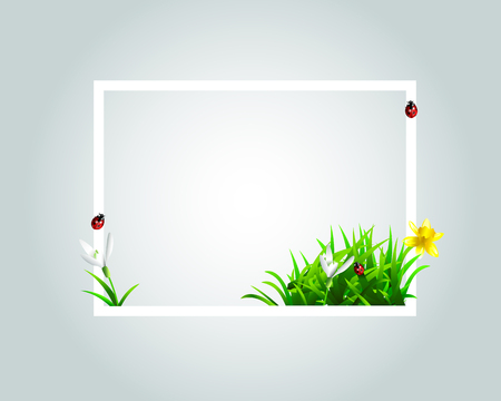 A Vector frame with spring motive