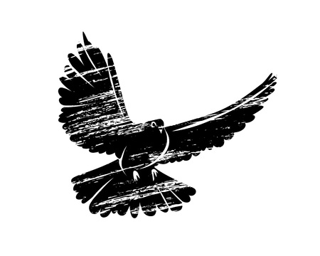 Silhouette bird illustration Ilustração