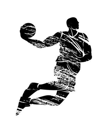 Silhouette basketball player illustration