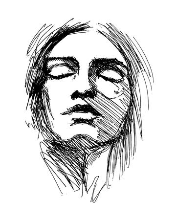 Woman head illustration