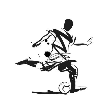 Vector ink sketch of a soccer player 写真素材 - 102808535