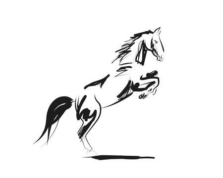 Vektortintenskizze eines Pferdes