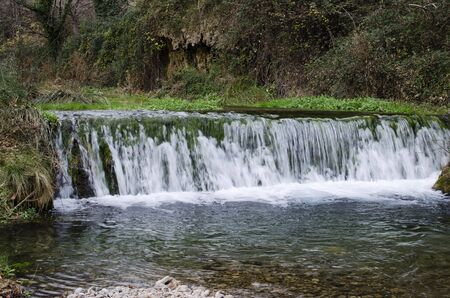 small river: small river waterfall