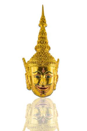 Thai ramayana mask figurine photo