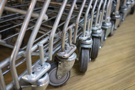 Shopping cart wheels photo