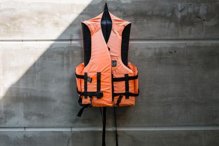 life saving: Hanging old life saving vest