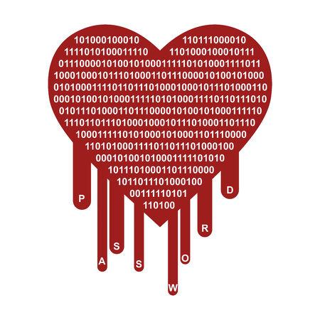 breach: OpenSSL Heartbleed security breach symbol Stock Photo