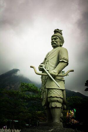 Big chines standing god statue