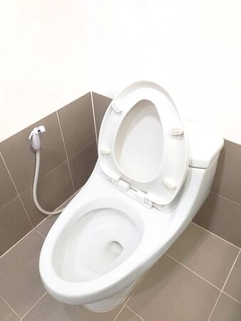 flush toilet in the bathroom of the hotel room
