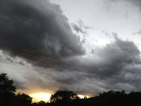 Crazy clouds rolling in with a storm